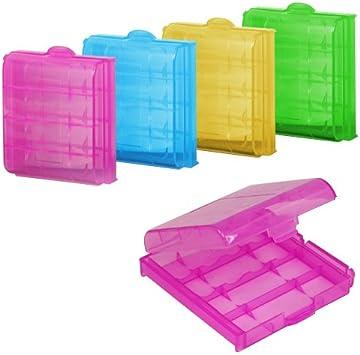 Yaheetech 5 Piezas Caja de Pilas Plasticas Estuche y Almacenamiento para AA / AAA Batería: Amazon.es: Electrónica