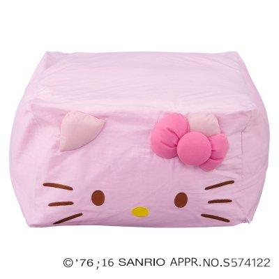 ビーズクッション/ビーズソファ ハローキティ キューブクッション 全3色 (ピンク) B01MTX6ZEG ピンク ピンク