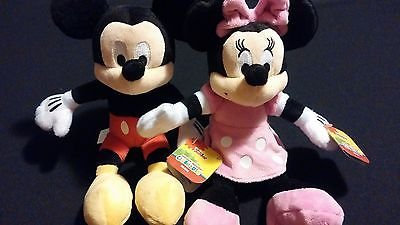 Disney Mickey Minnie Mouse Set of Soft Bean Bag Plush Toys Includes Both StyleA