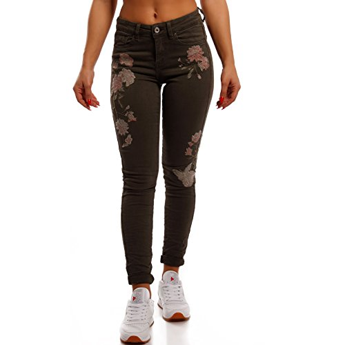 Básico Skinny Fashion para Mujer Vaqueros Caqui Young OxCaWd0d