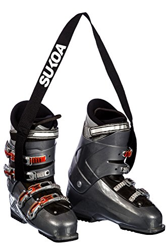 Sukoa Ski and Snowboard Boot Carrier Strap - Men & Women - Shoulder Sling Tote Leash Also for Ice Skates & Rollerblades - Equipment Accessories for Bag, Kit and Gear Pack