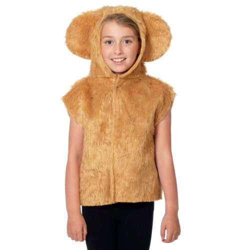 [Bear Costume for kids. One Size 3-9 Years.] (Yogi Bear Halloween Costume)