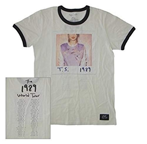 Taylor Swift 1989 Album Cover Tour Ringer Tee T-Shirt Small, Medium, Large (X-Small)