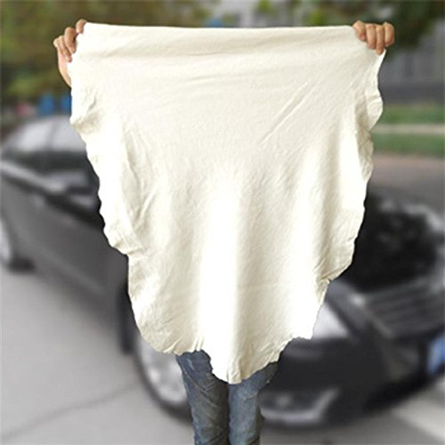 Daphot Store Car Cleaning Towels Chamois Leather Auto Car Polishing Waxing Drying Cloth (40x70cm)