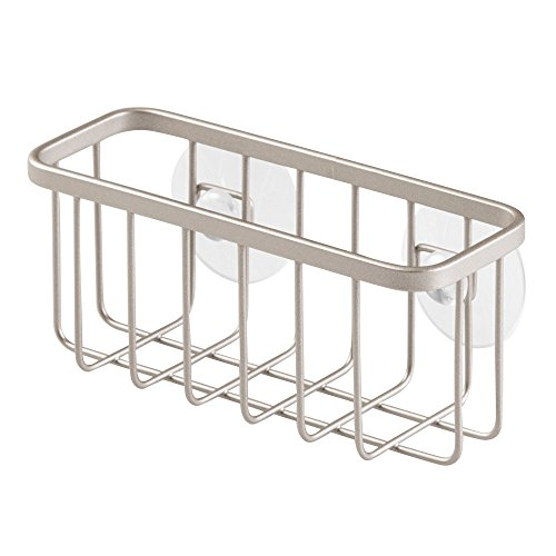 InterDesign Gia Suction Kitchen Sink Caddy, Sponge Holder for Kitchen Accessories - Satin by InterDesign