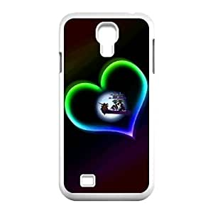wugdiy New Fashion Hard Back Cover Case for SamSung Galaxy S4 I9500 with New Printed Fire Heart