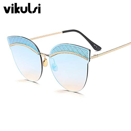 7573aa90370 Shopystore D192 Ice Blue  Luxury Rimless Sunglasses Women Brand r Cat Eye  Eyeglasses For Wom  Amazon.in  Clothing   Accessories