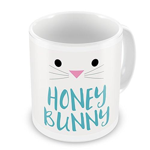Coffee Mug Honey Bunny Easter Bunny Face - NEONBLOND ()