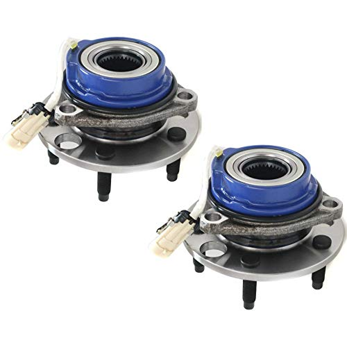 Wheel Hub and Bearing For 92-99 Buick LeSabre Front Left and Right FWD With ABS Sensors Lug Bolts ()