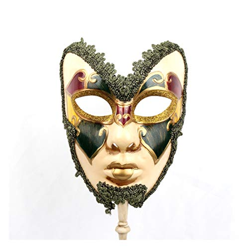 Full Venetian Mask Mardi Gras Mask Halloween Costume Gorgeous Mask for -