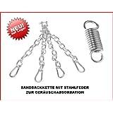Boxsackkette, Sandsackkette mit Drehwirbel und Stahlfeder zur Geräuschabsorbation