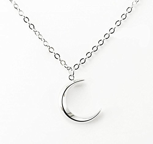 Cws silver crescent moon pendant cross chain necklace amazon cws silver crescent moon pendant cross chain necklace amazon jewellery aloadofball Images