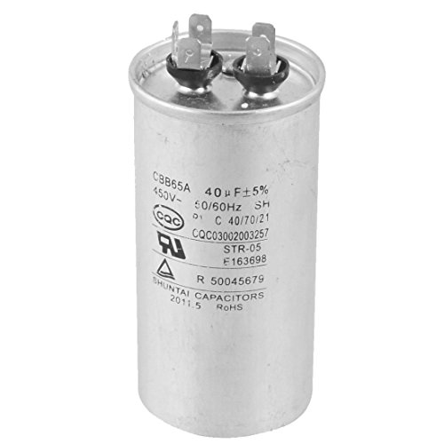 Toogoo r cbb65a 450v ac 50 60hz 40uf 5 round electric for Electric motor start capacitor