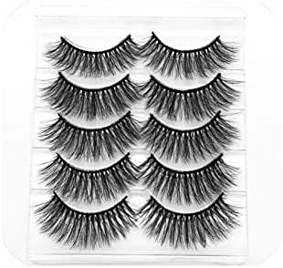 New 13 Styles 1/3/5/6 Pair Mink Hair False Eyelashes Natural/Thick Long Eye Lashes Wispy Makeup Beauty Extension Tools Wimpers,002
