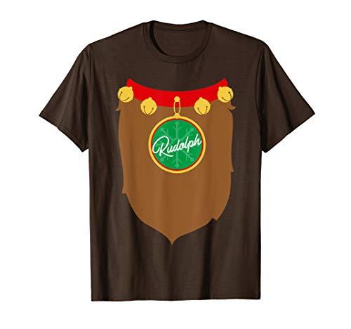 Reindeer Costume Christmas Shirt, Rudolph Santa Holiday Gift ()