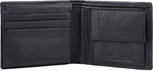 Wildhorn Men Black Wallet, Key Ring & Pen