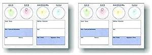 Blood Type Eldoncard Typing Test Kit Includes: 1 Eldoncard, lancet, gauze, alcohol wipe, micropipette