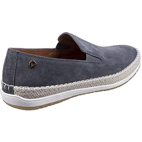 Shoes Mens Slip Suede On Gabicci Ryder Casual Grey Espadrille axpd1Tq0