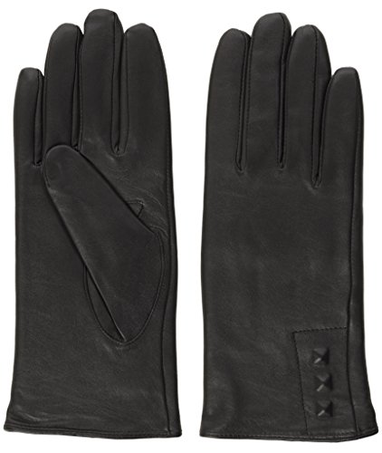Isotoner Women's Leather Glove with Covered Stud Detail Fleece Lined (8.5/9)