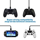 PS4 Controller Charging Cable Cord,SIOCEN Micro USB