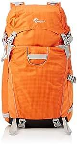 Lowepro Photo Sport 200 AW - Mochila con compartimientos para cámaras, naranja y gris claro