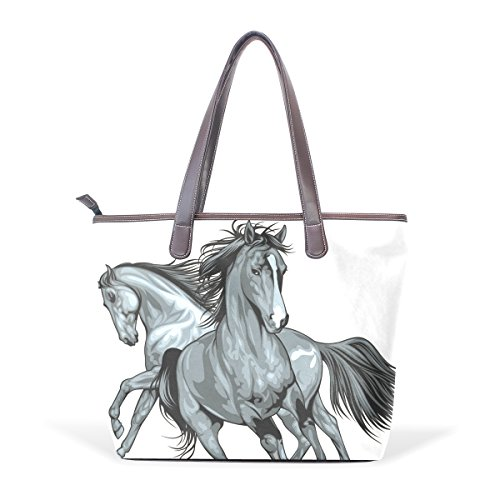 Tote Women's Handbags Horse Handle Bags Arabian BENNIGIRY Large Bags Patern Shoulder Top Leather daqtf