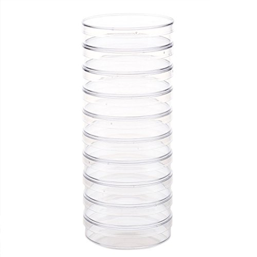 10Pack Polystyrene Petri Dishes Disposable Sterile Clear Petri Dishes for Laboratory, Chemical Instrument 35mm/55mm/60mm/70mm/100mm/150mm for Choose(35mm,35mm) ()
