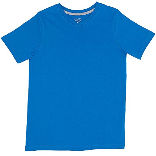 French Blue Apparel - French Toast Little Boys' Toddler Short Sleeve V-Neck Tee, French Blue, 3T