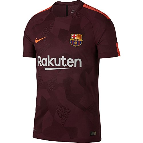 fan products of Nike Men's FC Barcelona 2018 Breathe Third Soccer Jersey (Small) Night Maroon