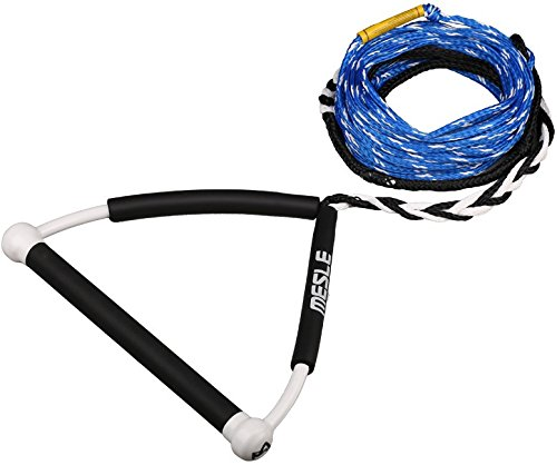 MESLE Wakeboardleine Rider 63' 2-Loop blu, 19,2 m, 2 Verkürzungen, 15'' Hantel