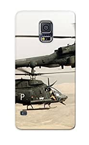 High Quality Vehktr-3451-hqhmfqw Ah64 Apache Aack Helicopter Army Military Weapon (56) Tpu Case For Galaxy S5