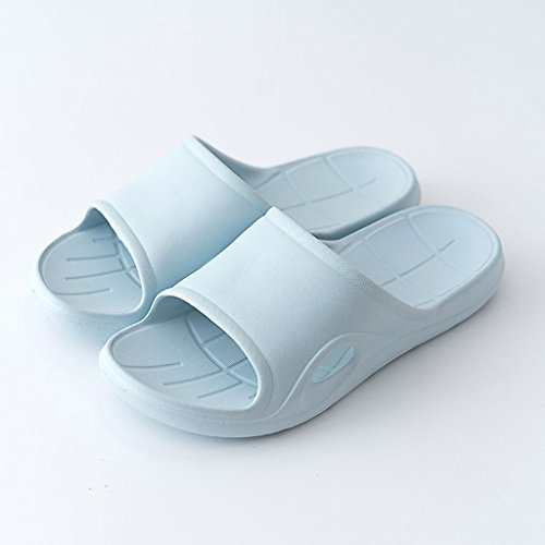 Shower Color And Home Size Sandals Bathroom Home 37 Soft Couple slip Slippers Blue CKH Non Shoes Summer Eva Blue Home Ladies a5z4Xqw