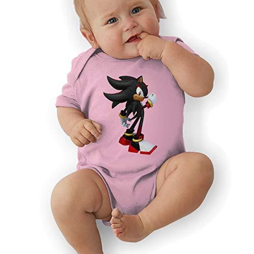 PopNoun Babys Sonic Shadow Hedgehog Comfortable Short Sleeve Jumpsuit Outfits 6M ()