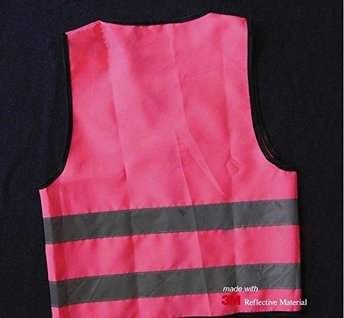 Salzmann High Visibility children reflective vest for outdoor sports, High Viz safety vest for Running, Cycling, Walking, Skating, Skiing, Skateboarding. Adjustable, lightweight, elastic Reflective Belt Vest for children, Kindergarten, Pupils, Junior stud by Tofern Outdoors (Image #2)