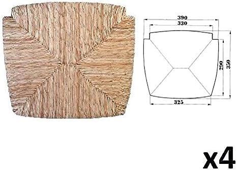 Loire 1212 Ecopelle Beige, 2 100/% Made in Italy per Sedia Venezia ricambi Set Sedute Sedile Imbottita Ricambio Paesana