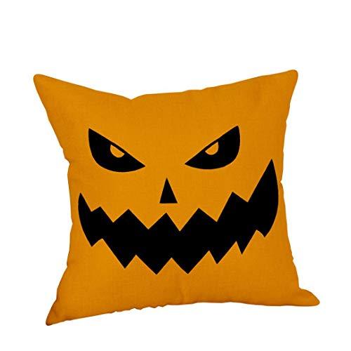 2018 New! Halloween Decorations Pillowcase,Leewos Pumpkin Decor Cushion Cover Trick Or Treat Cotton Linen Throw Pillow Covers