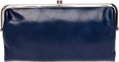 Kiss Lock Wallet (Hobo Womens Lauren Vintage Wallet Clutch Purse (Indigo))