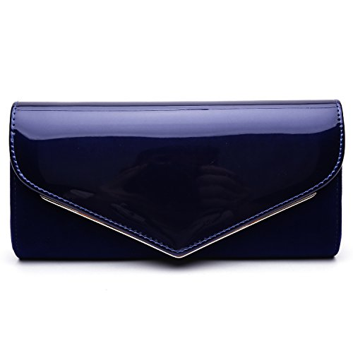 Quilted Patent Leather Clutch - 6