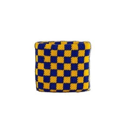 Digni reg Checkered blue-yellow Wristband sweatband Estimated Price £3.95 -