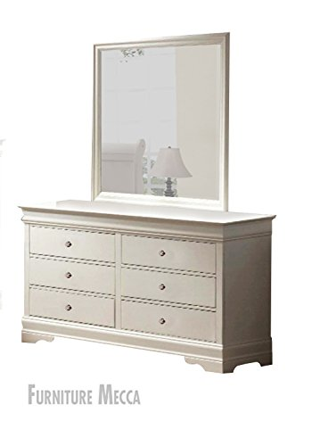 Crown Louis Philip Classic White Dresser & Mirror