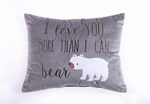 Levtex Home Baby Pillow, I Love You More Than I Can Bear by Levtex Home