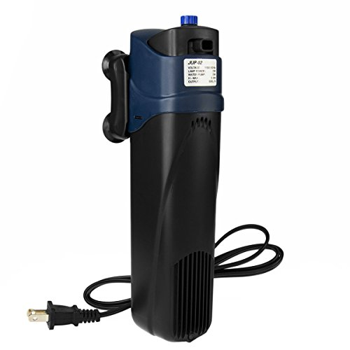 Image of SUN Jup-02 5W Uv Sterilizer Submersible Filter Pump for Aquarium, 40 gal