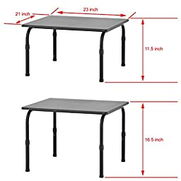Adjustable Height Standing Desk Riser Workstation / Heavy Duty Laptop Table, Black