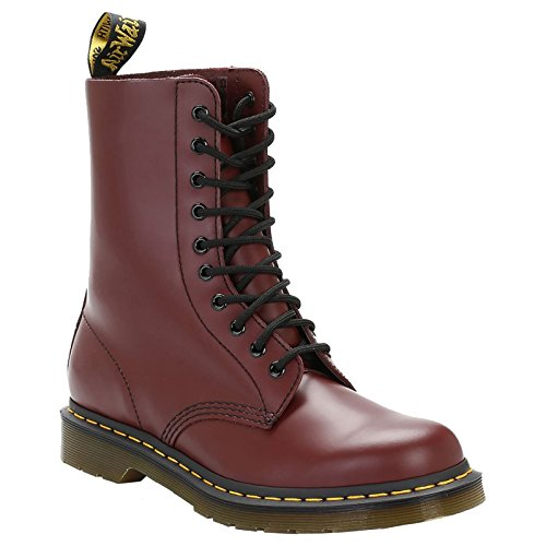 Dr. Martens 1490 10-Eyelet Boot,Cherry Red Smooth Leather,UK 6.5 M