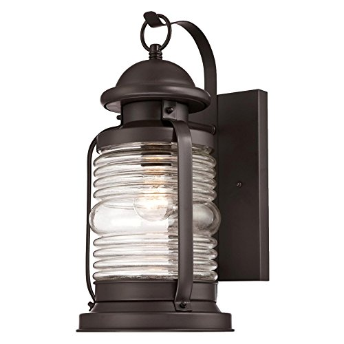 Westinghouse 6348300 Weatherby One-Light Outdoor Wall Fixture, Weathered Bronze Finish with Clear Glass
