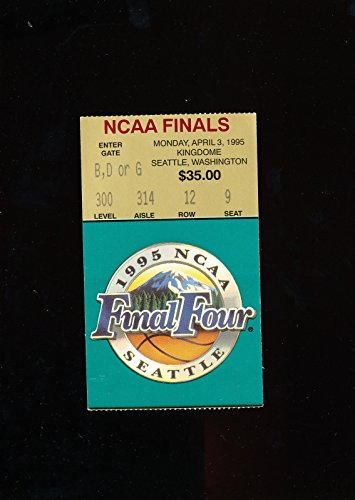 (1995 ncaa Basketball championship finals Ticket UCLA champs)