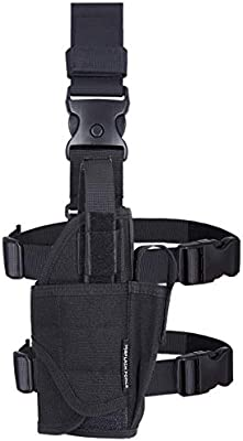 MGFLASHFORCE Drop Leg Holster, Adjustable Molle Tactical Thigh Pistol Gun  Holster Right Handed