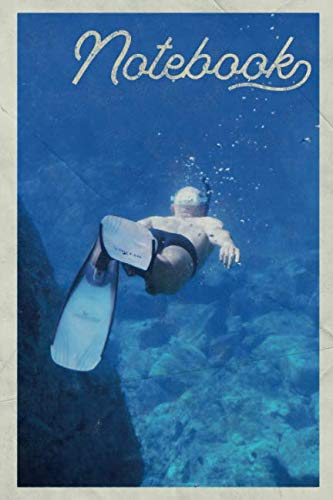 Notebook: Snorkel Fins Nifty Composition Book Journal Diary for Men, Women, Teen & Kids Vintage Retro Design for Maui