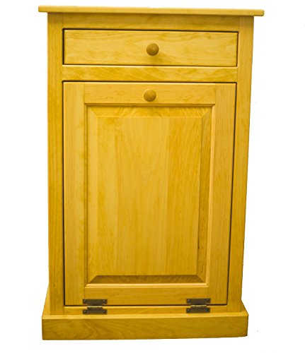 Pine Tilt Out Laundry Hamper (Golden Oak) - Heritage Oak Pine