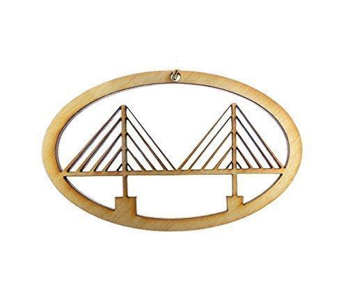 Ornament - Charleston South Carolina Souvenirs - Cooper River Bridge Gifts (Cooper River Bridge)